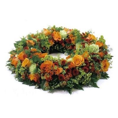 Corona de flores Otoñal