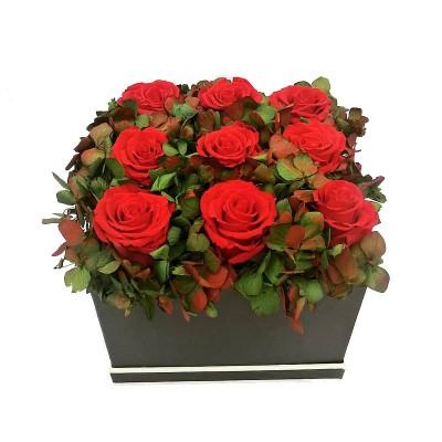 Caja de Rosas Rubí